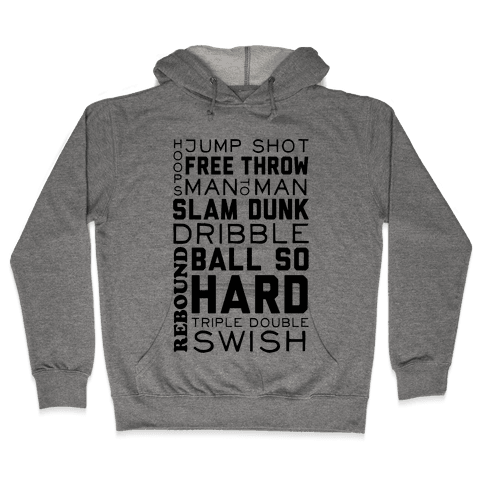 Basketball Typographic Hooded Sweatshirt