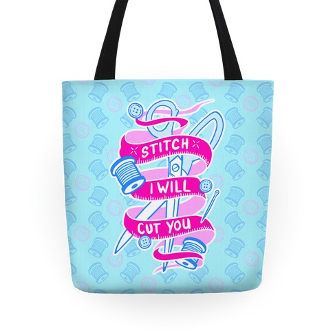 Stitch I Will Cut You Tote