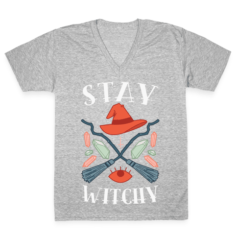 Stay Witchy V-Neck Tee Shirt