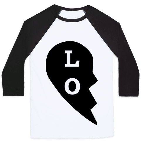"""LO"" Love Couples Tank Baseball Tee"