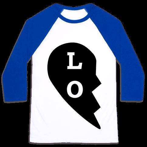 """LO"" Love Couples Tank Baseball Tee"