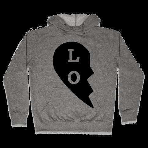 """LO"" Love Couples Tank Hooded Sweatshirt"