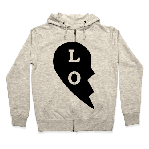 """LO"" Love Couples Tank Zip Hoodie"