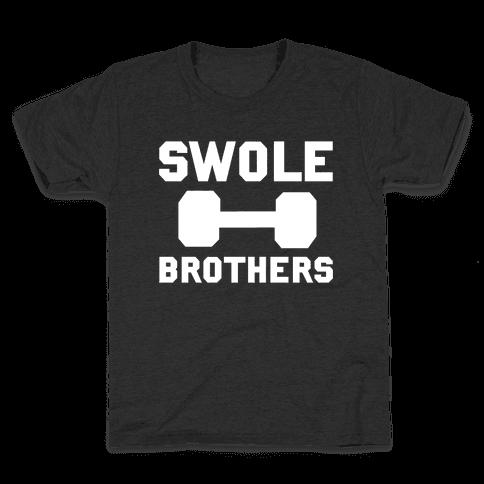 Swole Brothers (White) Kids T-Shirt