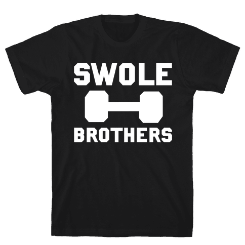 Swole Brothers (White) Mens T-Shirt