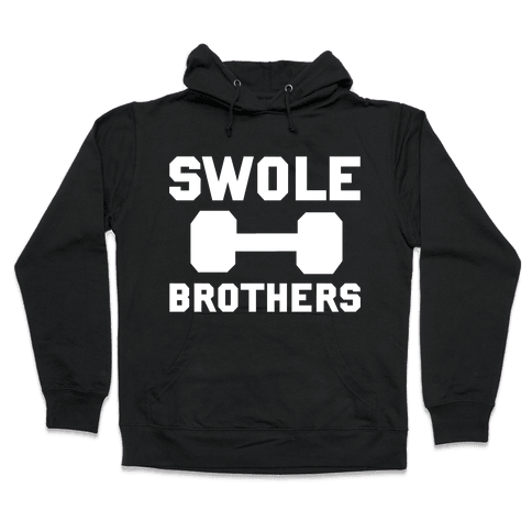 Swole Brothers (White) Hooded Sweatshirt