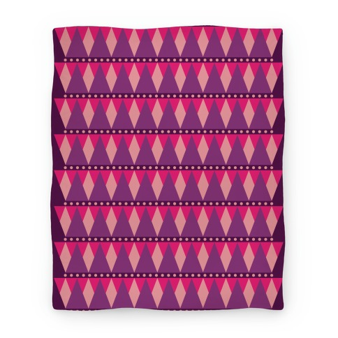 Pink Triangle Pattern Blanket Blanket