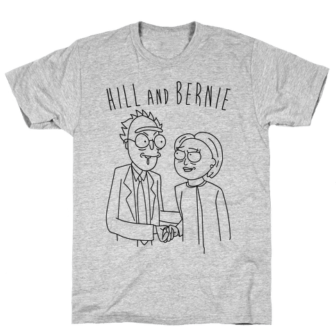 Hill And Bernie Parody Mens T-Shirt