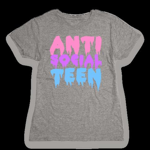 Anti Social Teen Womens T-Shirt