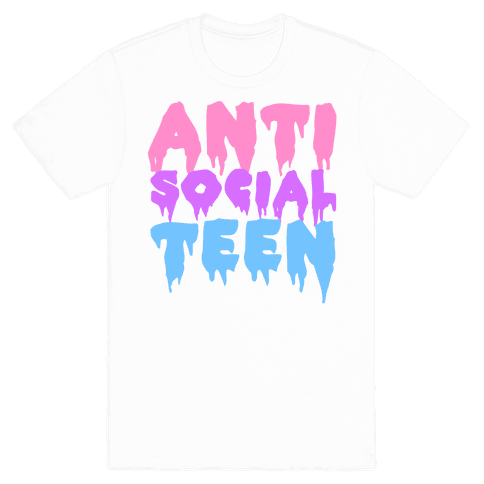 Anti Social Teen Mens T-Shirt