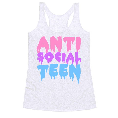 Anti Social Teen Racerback Tank Top