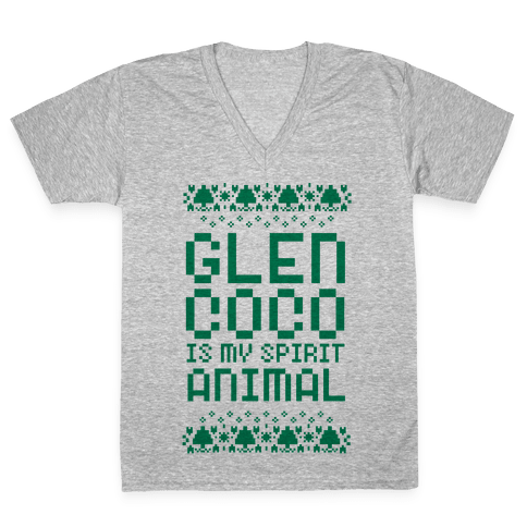 Glen Coco is My Spirit Animal V-Neck Tee Shirt