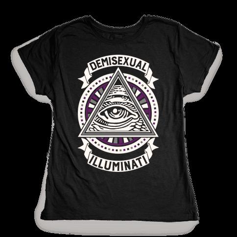 Demisexual Illuminati Womens T-Shirt