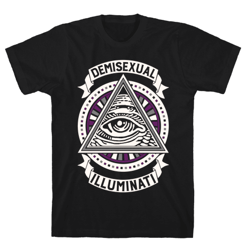 Demisexual Illuminati Mens T-Shirt