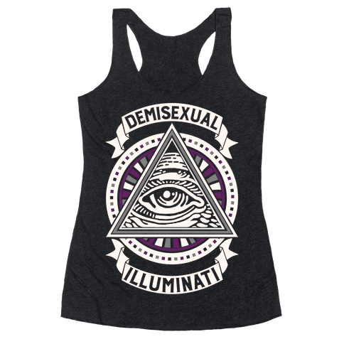 Demisexual Illuminati Racerback Tank Top