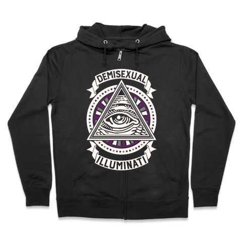 Demisexual Illuminati Zip Hoodie