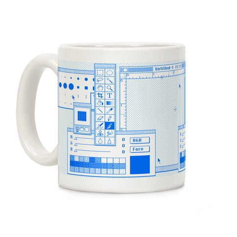 Photoshop Pixel Tools Coffee Mug