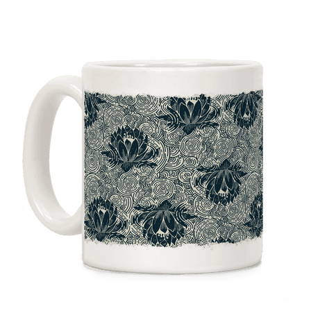 Lotus Flower Pattern Coffee Mug