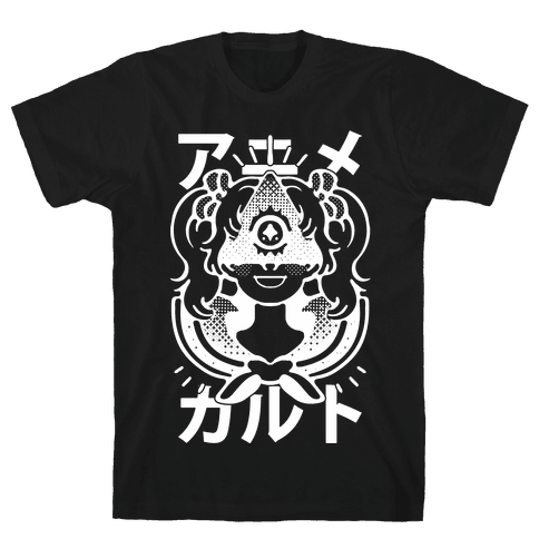 Anime Illuminati Cult Mens T-Shirt