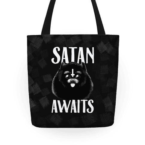 Satan Awaits Pomeranian Tote