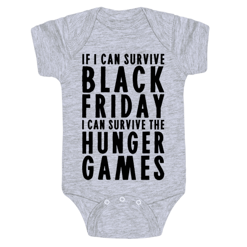 Black Friday Hunger Games Baby Onesy