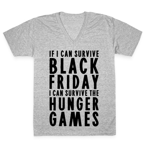 Black Friday Hunger Games V-Neck Tee Shirt