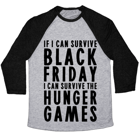 Black Friday Hunger Games Baseball Tee