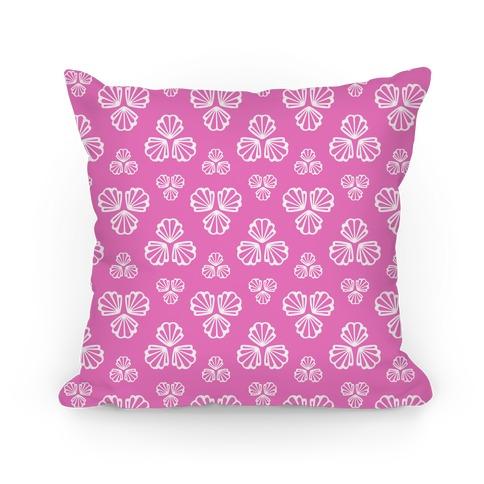Pink Seashells Pattern Pillow