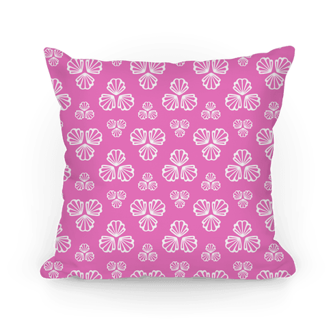 Pink Seashells Pattern Pillow