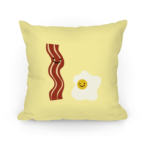 Egg and Bacon Buddies Pillow