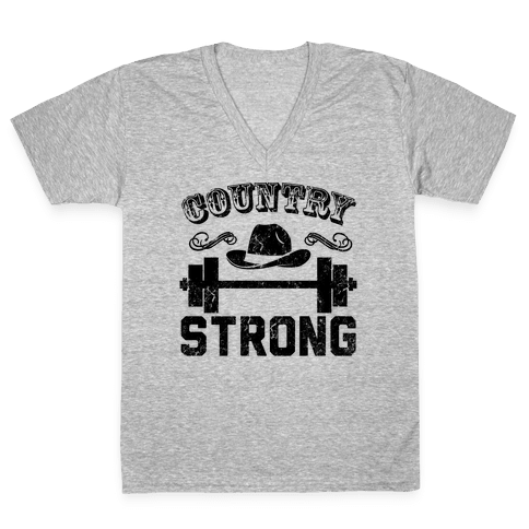 Country Strong V-Neck Tee Shirt