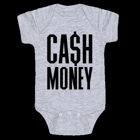Cash Money Baby Onesy