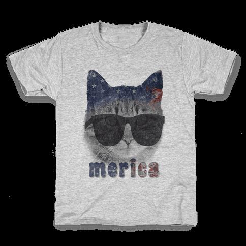 Merica Cat Kids T-Shirt