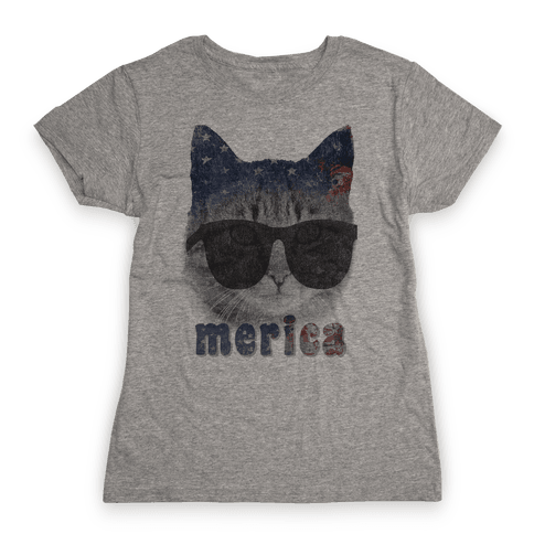 Merica Cat Womens T-Shirt
