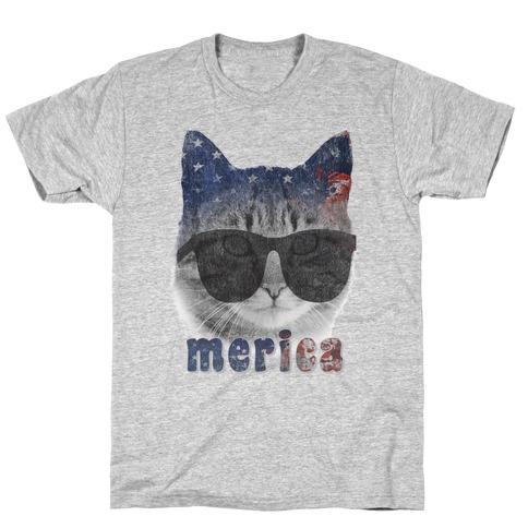 Merica Cat Mens/Unisex T-Shirt