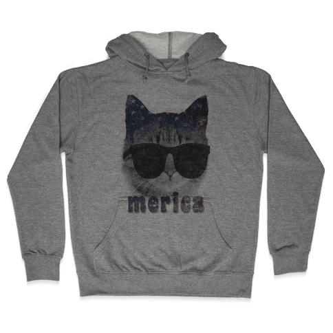Merica Cat Hooded Sweatshirt