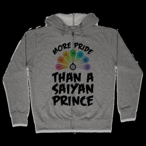 More Pride Than a Saiyan Prince Zip Hoodie