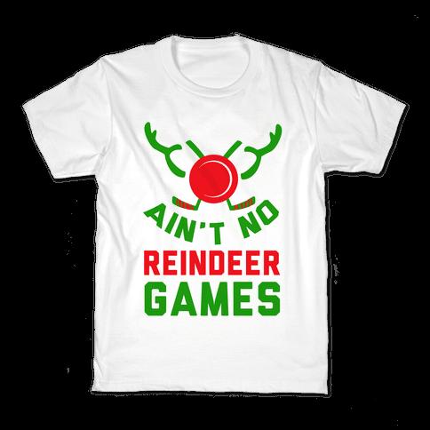 Hockey: It' Ain't No Reindeer Games Kids T-Shirt