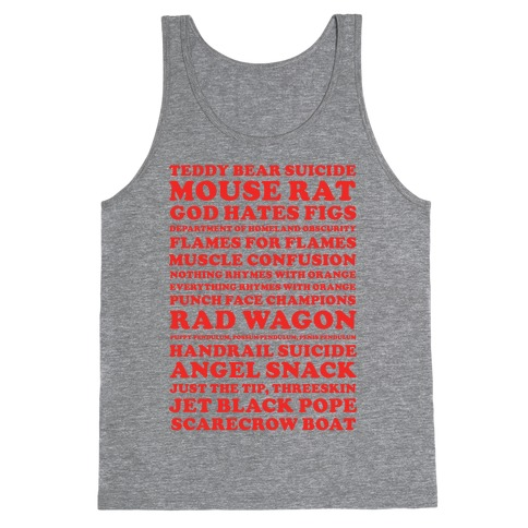 Andy Dwyer Band Names Tank Top