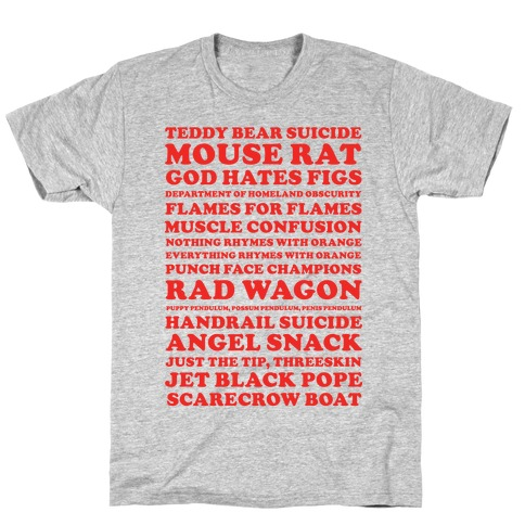 Andy Dwyer Band Names T-Shirt