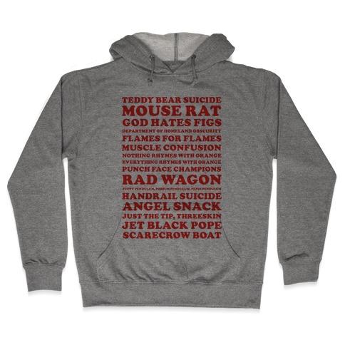 Andy Dwyer Band Names Hooded Sweatshirt