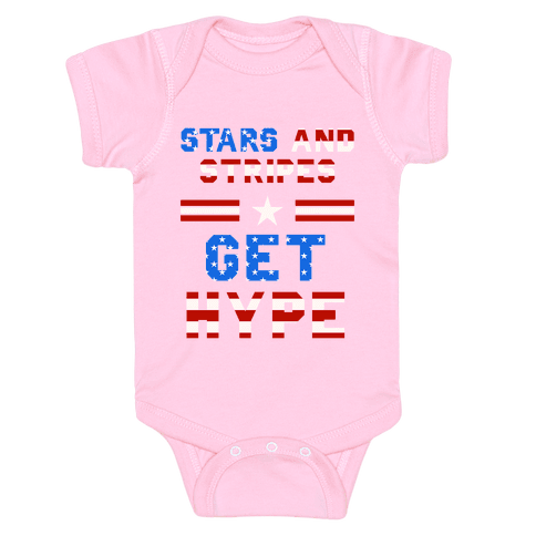 Stars And Stripes Get Hype Baby Onesy