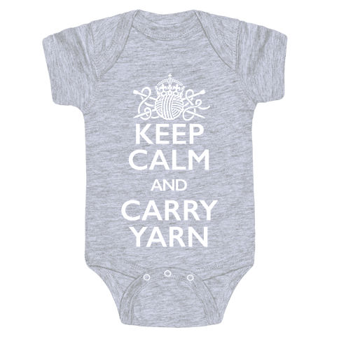 Keep Calm And Carry Yarn (Knitting) Baby Onesy