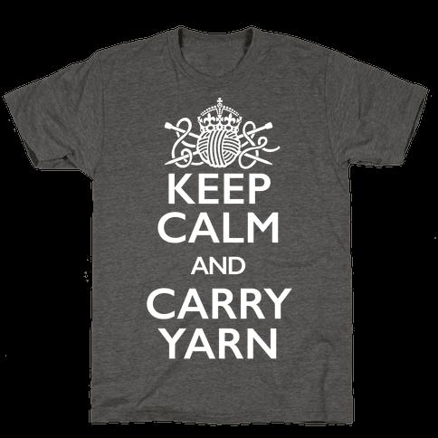 Keep Calm And Carry Yarn (Knitting)