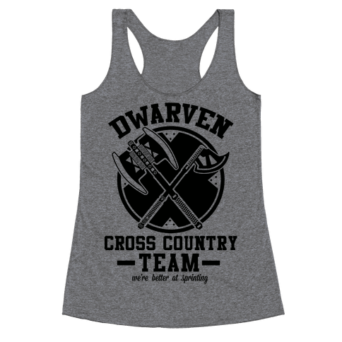 Dwarven Cross Country Team Racerback Tank Top