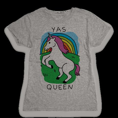 Yas Queen Unicorn Womens T-Shirt