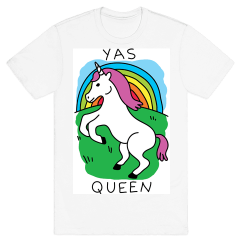 Yas Queen Unicorn Mens T-Shirt