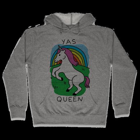 Yas Queen Unicorn Hooded Sweatshirt
