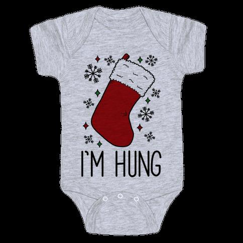 I'm Hung (Stocking) Baby Onesy