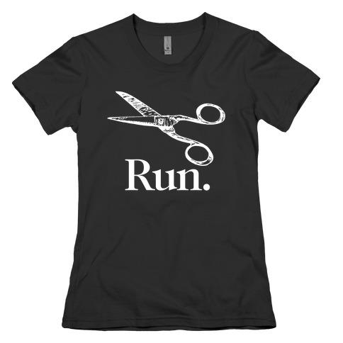 Run With Scissors Womens T-Shirt